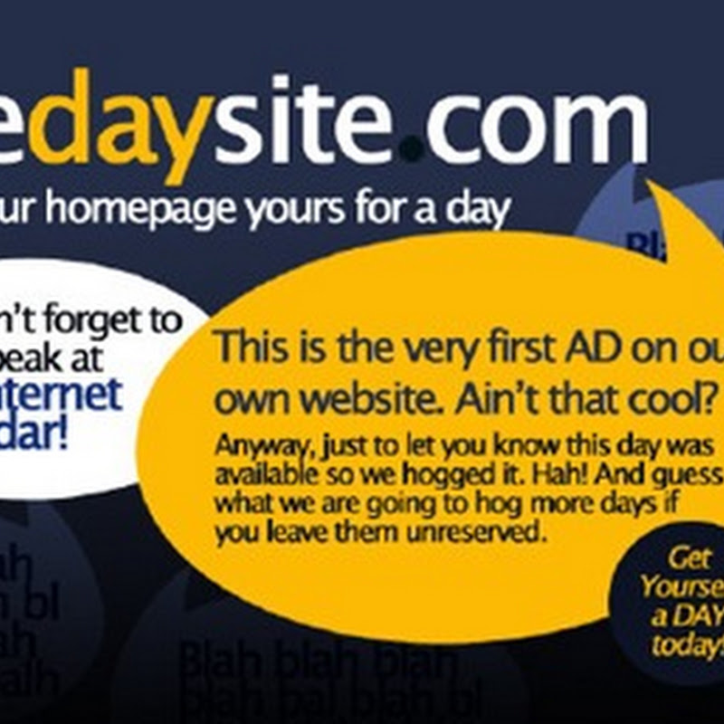 The Day Site – Own a homepage for a day