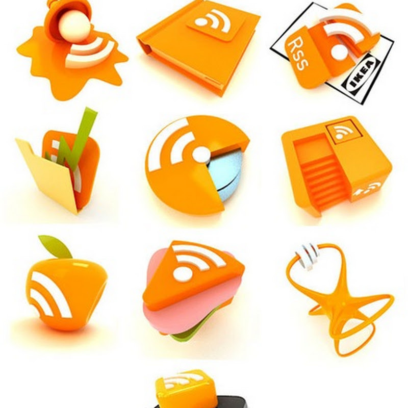 40+ stunningly creative free RSS icons