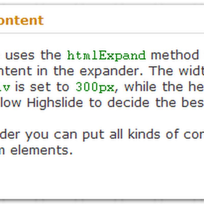 HighSlide – Javascript image zooming