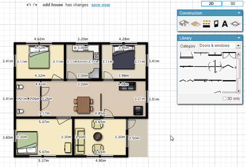 Design your home online with floor planner instant fundas Home drafting software free