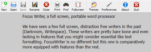 focuswriter-top