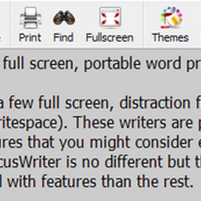 FocusWriter, a full screen, portable word processor