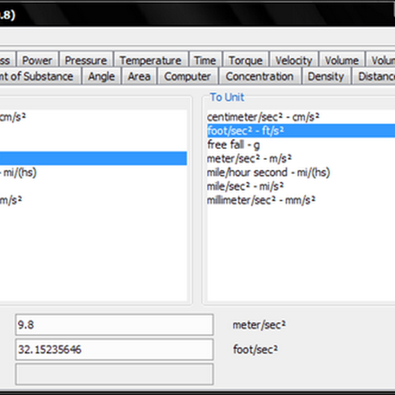 JConvert, a Java based unit converter
