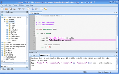 Editra A New Open Source Text Editor Instant Fundas