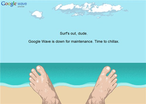 google-wave-down