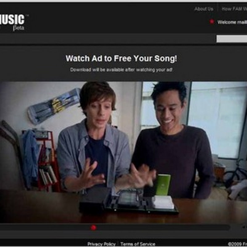 FreeAllMusic.com – Ad supported, free, legal music download
