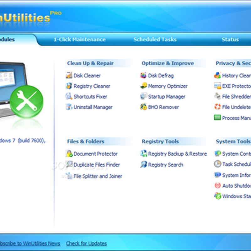 Free download WinUtilities Pro full version
