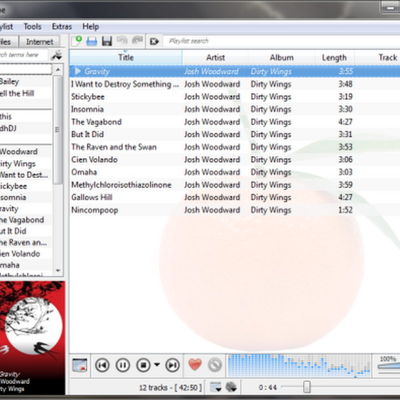 Clementine  Attractive cross platform music player based on Amarok 1.4