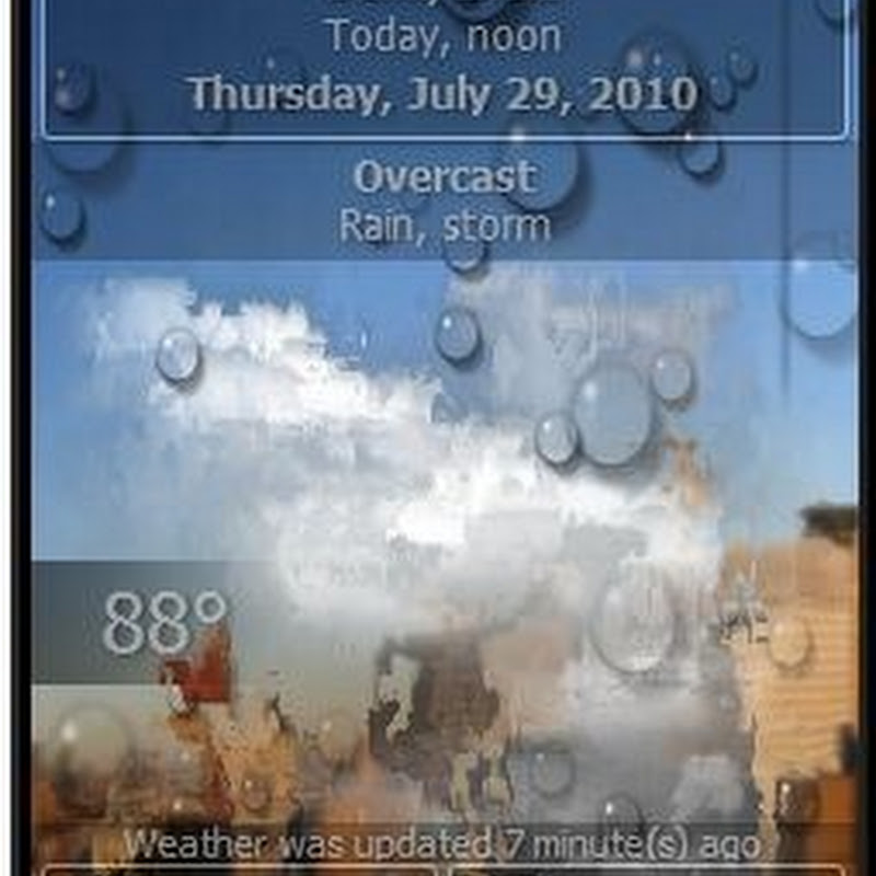 Animated Weather Forecast desktop application
