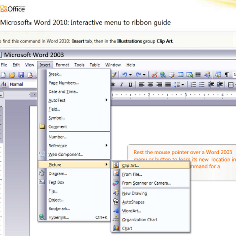 Microsoft's interactive guide to Office 2010's Ribbon interface