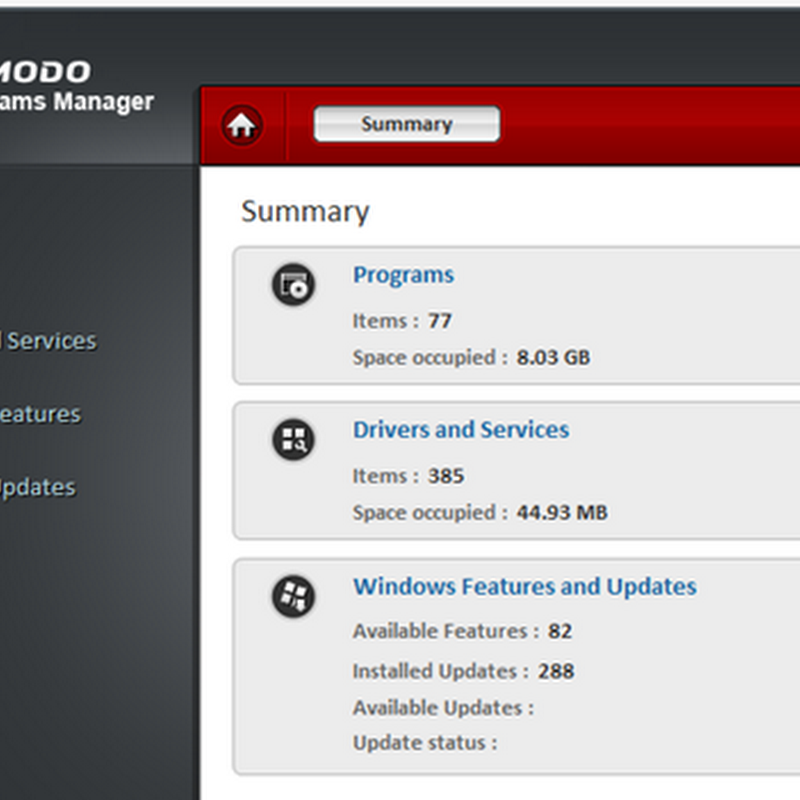 Comodo Programs Manager – Software uninstaller and Windows tweaker