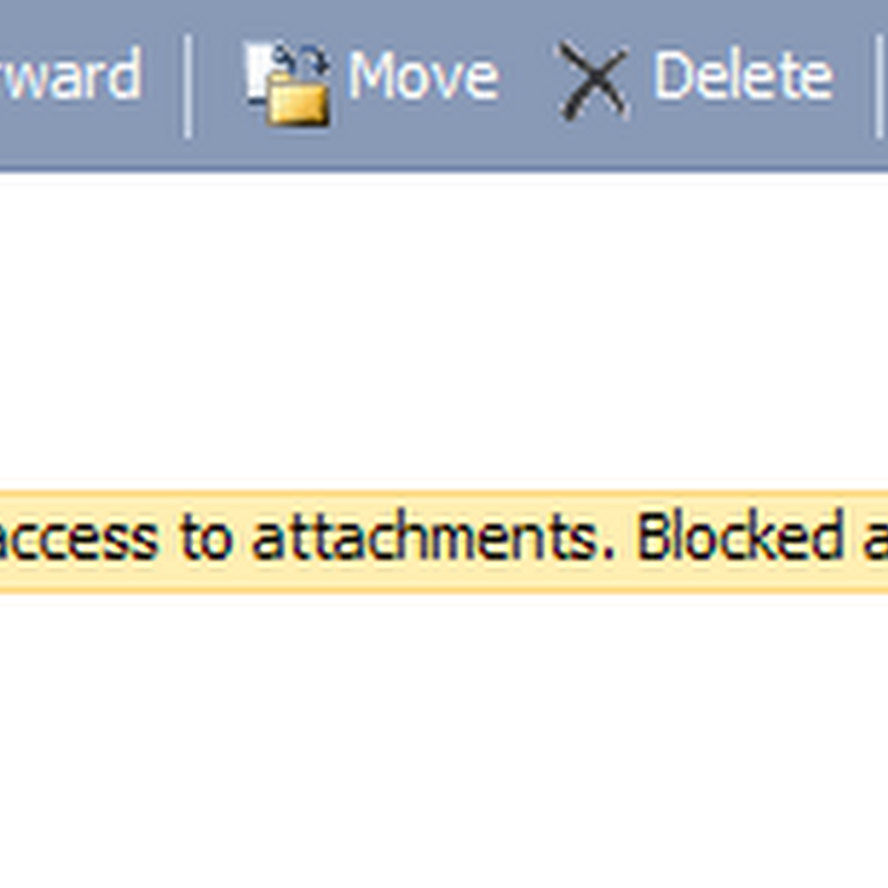Get rid of Outlook Blocked Access to my Attachments message