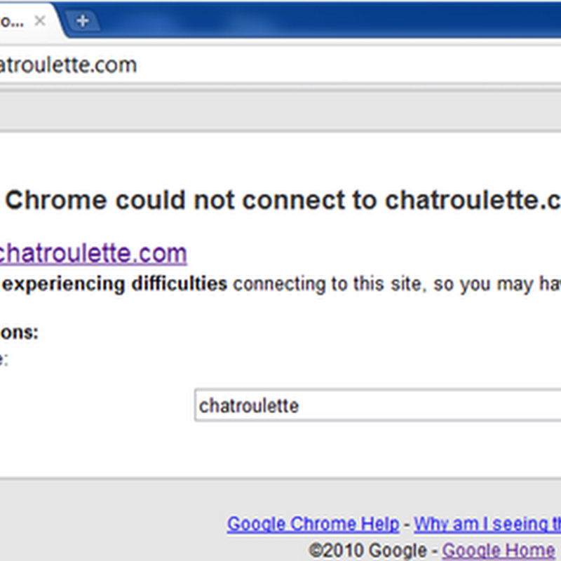 Google Chrome now tells you if a website is inaccessible