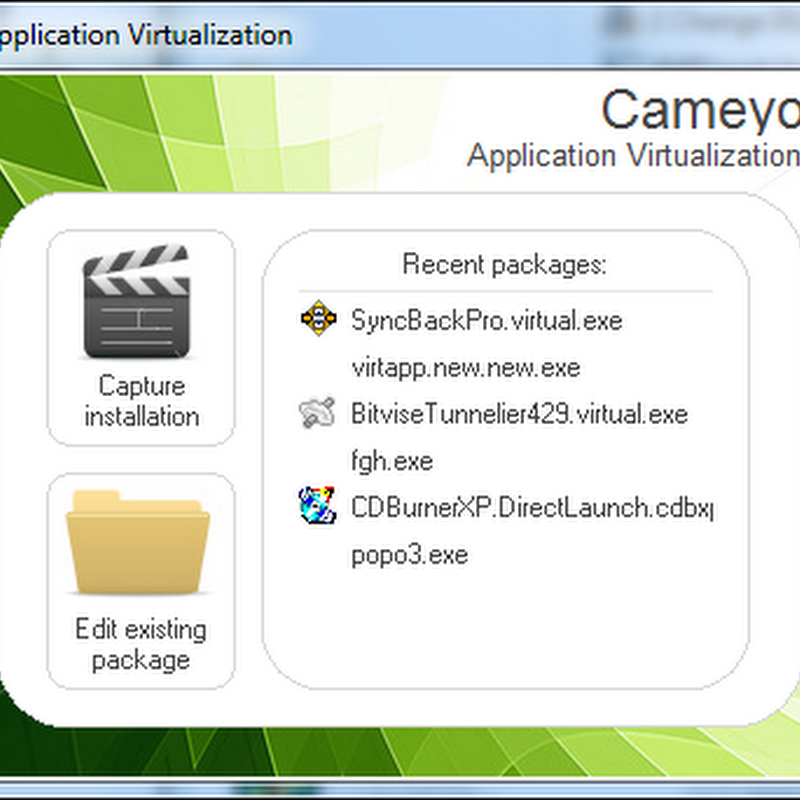 Cameyo: Freeware alternative to Thinstall and Xenocode
