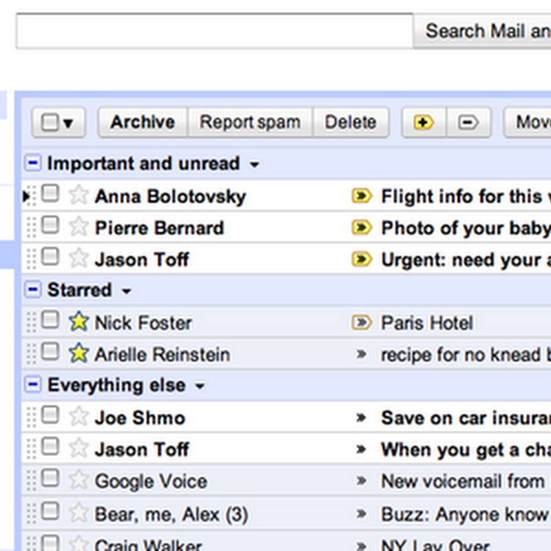 Gmail's impressive Priority Inbox automatically sorts email for you