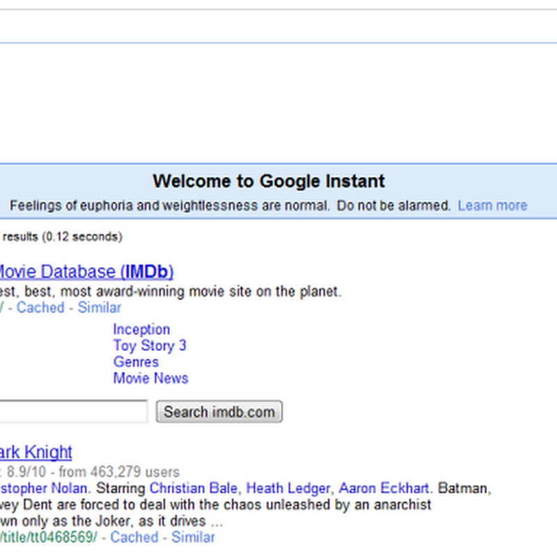 Try out Google Instant Search now: Search as you type