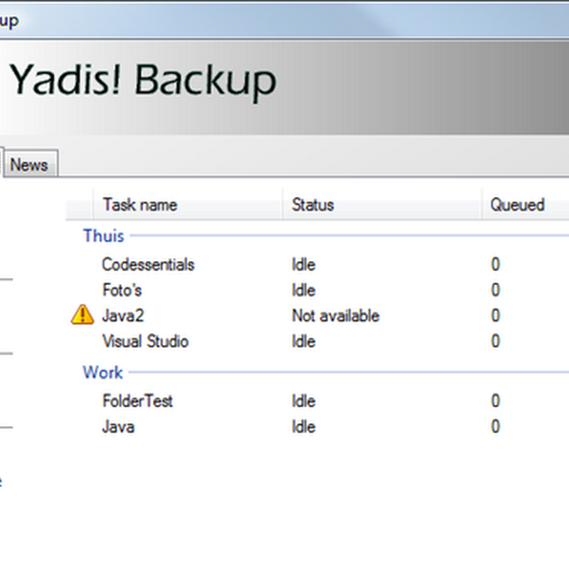Yadis Backup: Free, automatic, real-time backup software