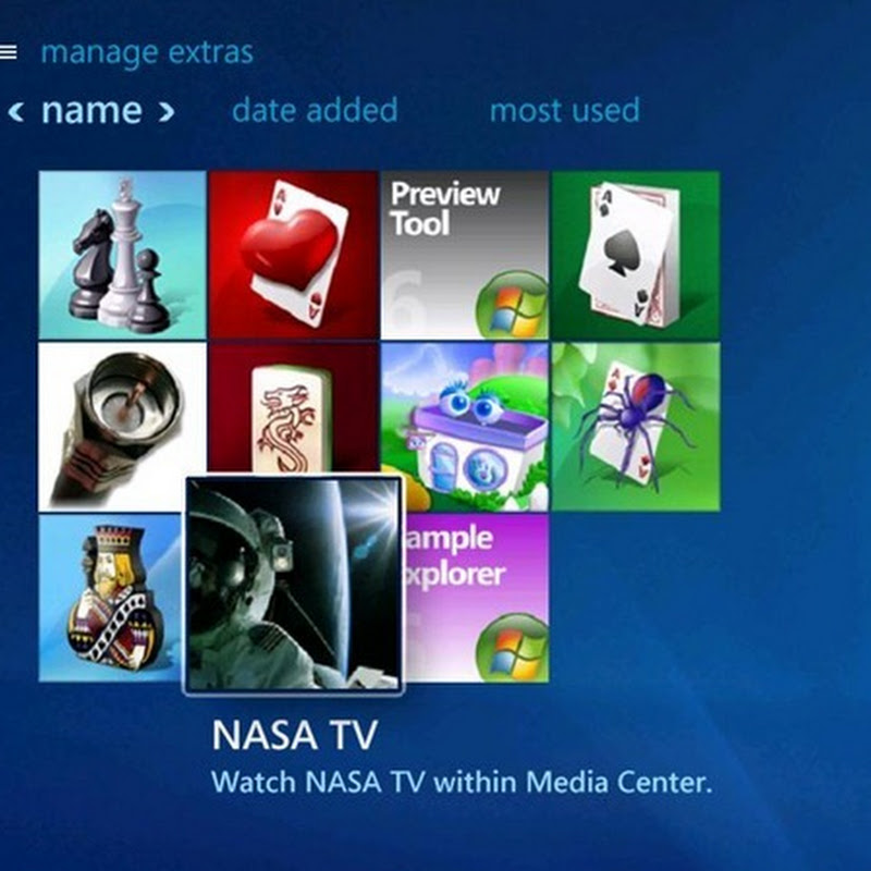Watch NASA TV in Windows Media Center