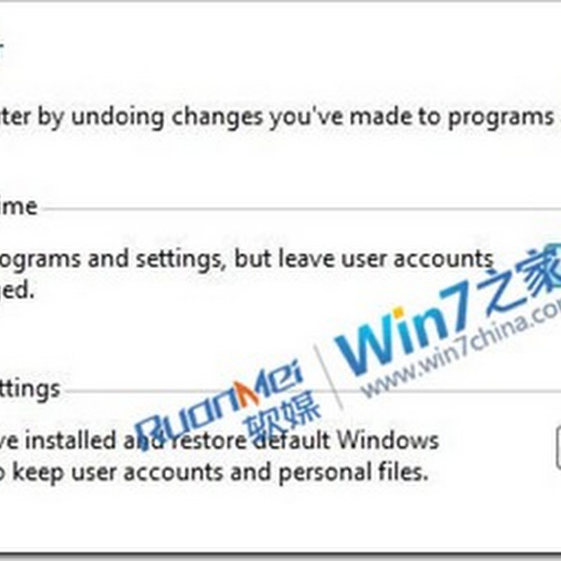 "Windows 8 Gets ""Restore to Original Factory Settings"" Button"