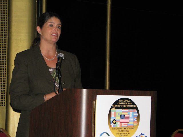NCUA Board Member Gigi Hyland addressing the Federation's and NLCUP's 6th Latino CU Conference
