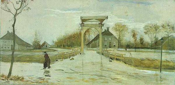 Drawbridge in Nieuw-Amsterdam