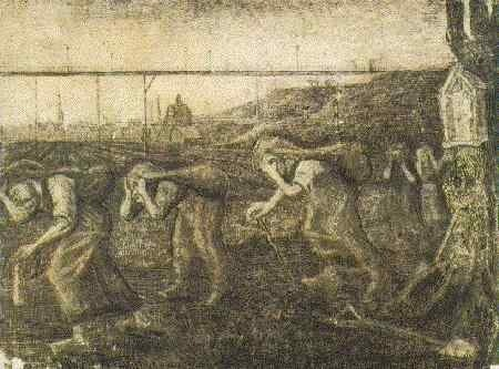 Miners' Women Carrying Sacks