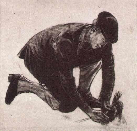 Kneeling Man, Planting