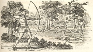 "Thomas Bewick, ""Robin Hood's Progress to Nottingham"""
