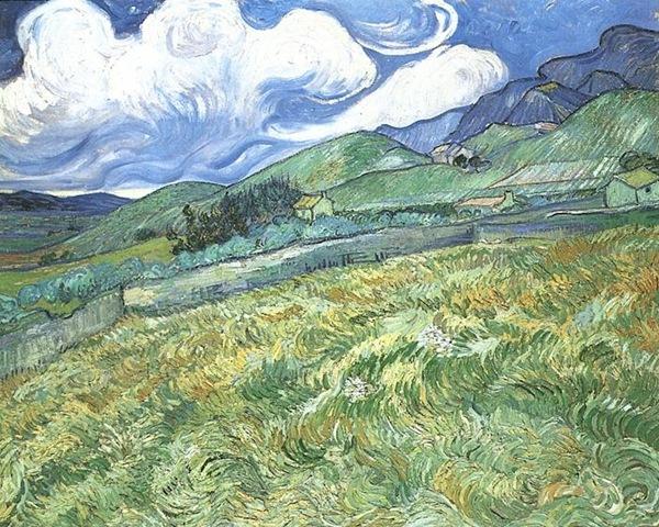 Mountainous Landscape Behind Saint-Paul Hospital