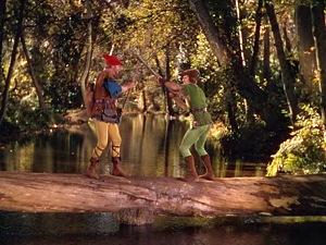 Adventures of Robin Hood - Robin fighting Little John