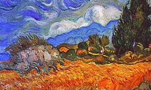 Dreams - Wheat Field with Cypresses at the Haute Galline Near Eygalieres
