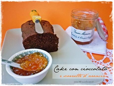 Cake con cioccolato e scorzette d'arancia