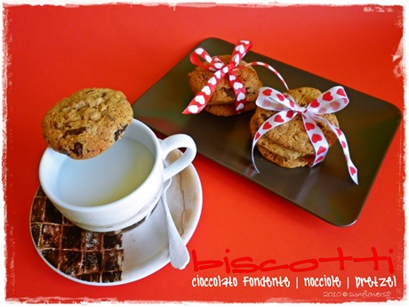 Biscotti nocciole e pretzel