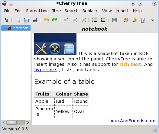 CherryTree Note Taking Software