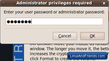 Enter Linux root password