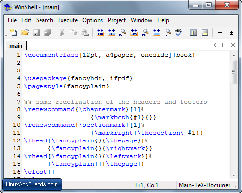 WinShell LaTeX Editor