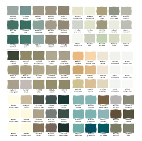 BAC color palette