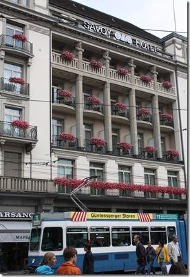 Day 1--hotel in Zurich
