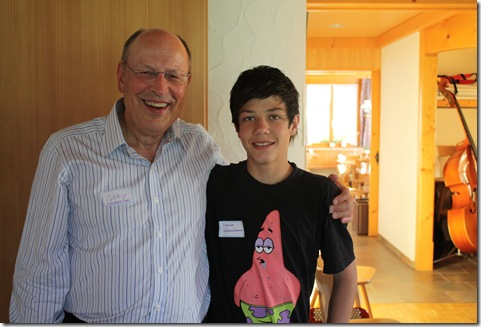 Day 4 Schwendiman party Dad and Florian (Urs and Rosemarie's son)