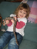 Mollie holding the Gant's snake