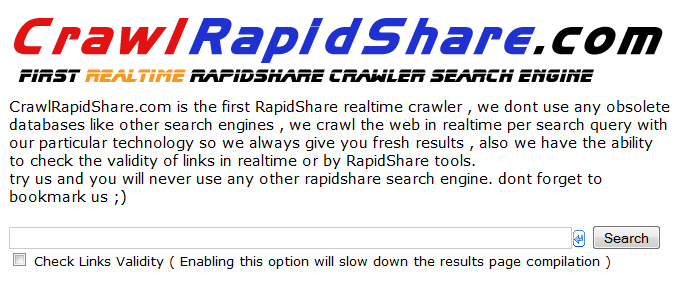 latest rapidshare search engine