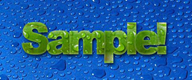 sample logo from spiffy text