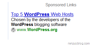 wordpress.org hosting ads