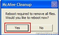 mcafee cleanup tool 2010