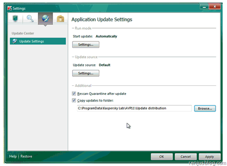 save updates kaspersky antivirus