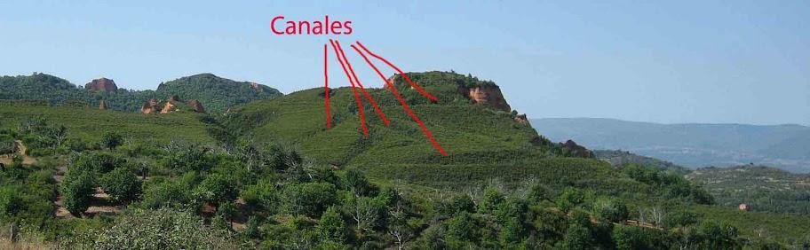 Las Médulas, ruta de los Conventos Canales en el Pricias y Gallegos