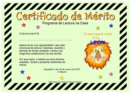 Diploma león lector