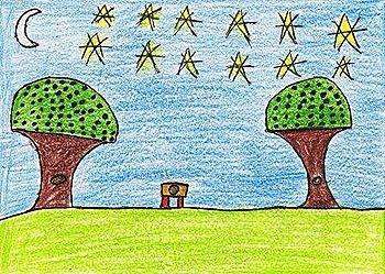 O bosque, a perla e a lúa, de Lorena