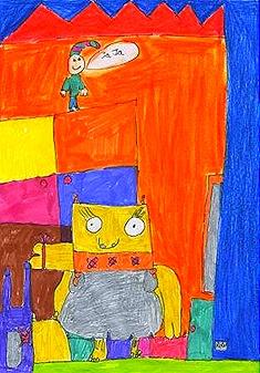 O monstro que se converteu en serea e ximnasta, de Óscar