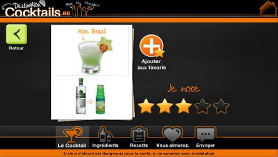 Destination Cocktails België - screenshot